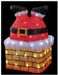 PREMIER LV192065  43Cm Acrylic Santa In Chimney 60 Led
